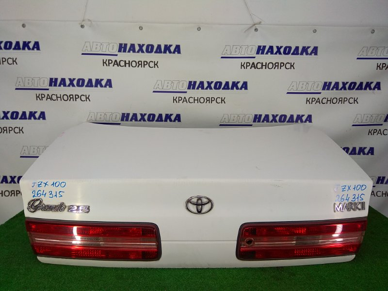 Крышка багажника Toyota Mark Ii JZX100 1JZ-GE 1996 задняя ХТС, в сборе, 1 модель (96-98), белая (040), с