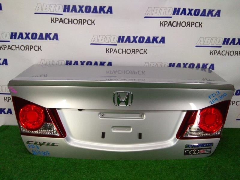 Крышка багажника Honda Civic FD3 LDA 2005 задняя ХТС, в сборе, серая (NH704MX), с фонарями 1 модели