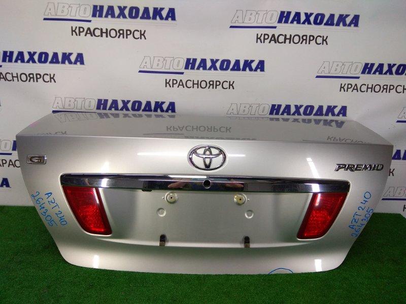 Крышка багажника Toyota Premio AZT240 1AZ-FSE 2001 задняя В целом ХТС, в сборе, серая (1С0), с