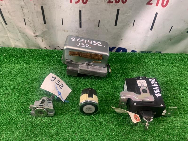 Замок зажигания Nissan Teana J32 VQ25DE 2008 электронный: кнопка Старт - Стоп + блокиратор +
