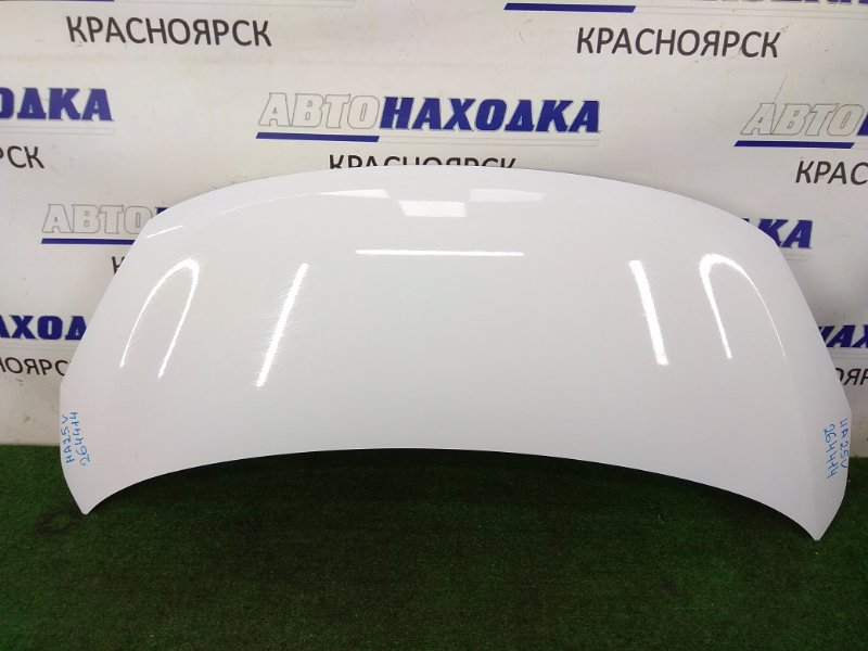 Капот Suzuki Alto HA25V K6A 2009 передний ХТС, белый (26U), под полировку