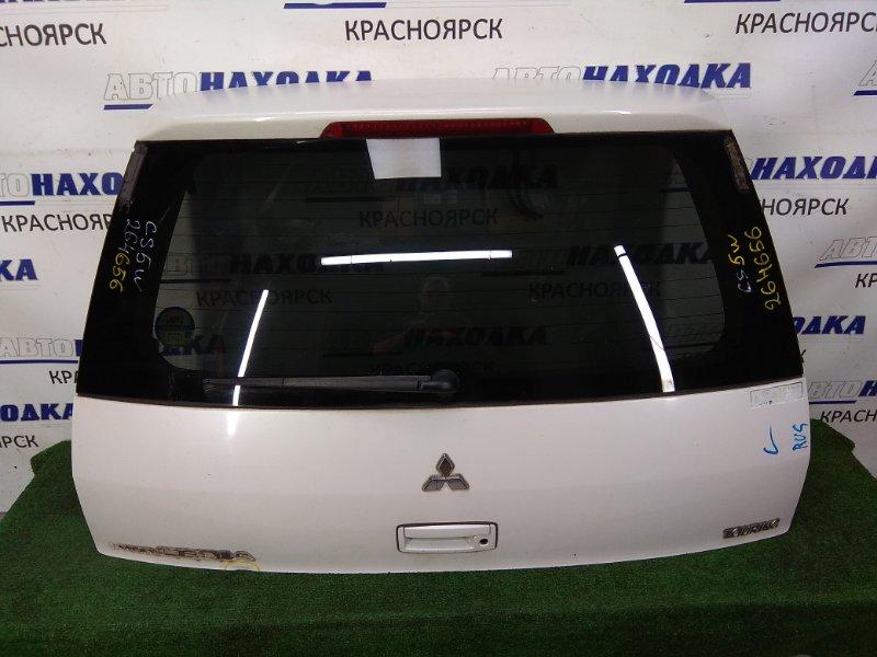 Дверь задняя Mitsubishi Lancer CS5W 4G93 2000 задняя в сборе, спойлер (накладка), белый перламутр,