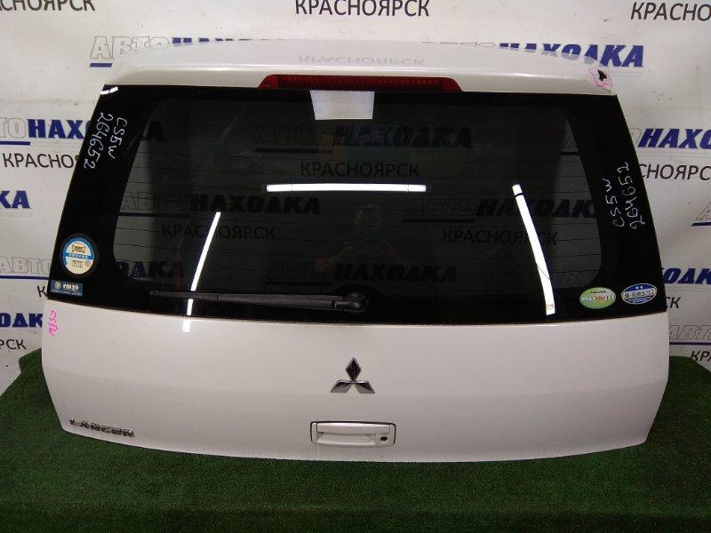 Дверь задняя Mitsubishi Lancer CS5W 4G93 2003 задняя в целом ХТС, в сборе, белый перламутр (W13A),