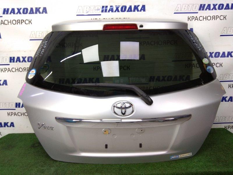 Дверь задняя Toyota Vitz NSP130 1NR-FE 2010 задняя в сборе, серая (1F7), метла. ХТС