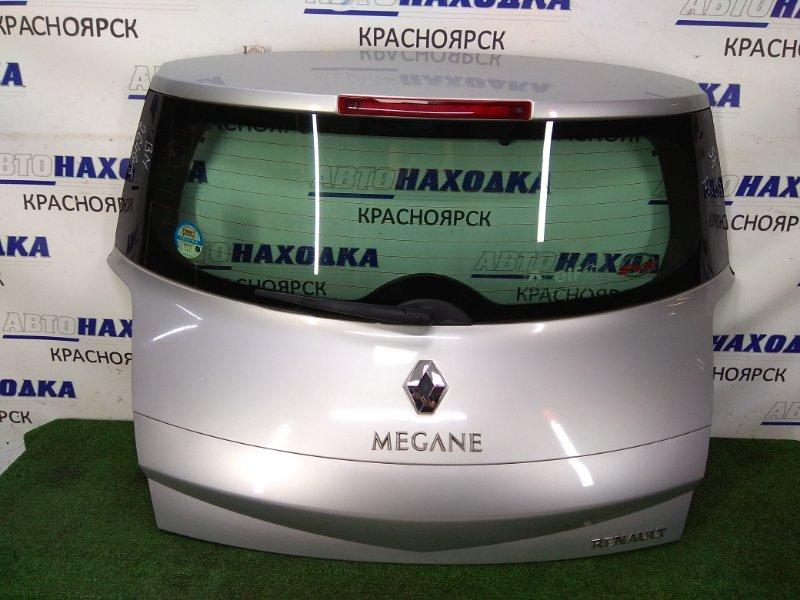Дверь задняя Renault Megane BM F4R 2002 задняя в сборе, серая (TED69), метла, маленькая вмятинка