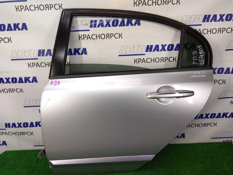 Дверь Honda Civic FD3 LDA 2005 задняя левая задняя левая, серая (NH704MX), потертости царапинки