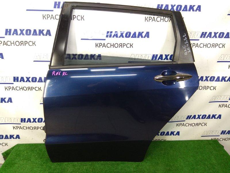 Дверь Honda Stream RN6 R18A 2006 задняя левая ХТС, задняя левая, в сборе, синяя (B536PX), под полировку