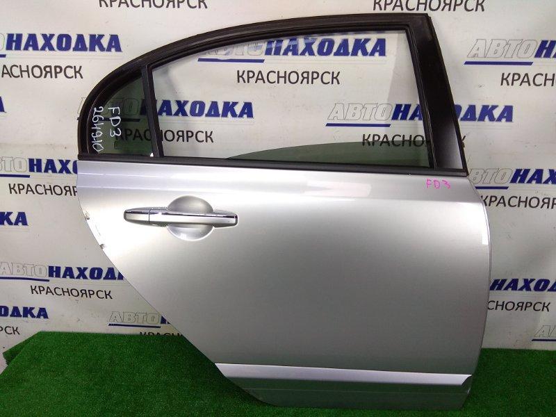 Дверь Honda Civic FD3 LDA 2005 задняя правая задняя правая, серая (NH704MX), потертости царапинки