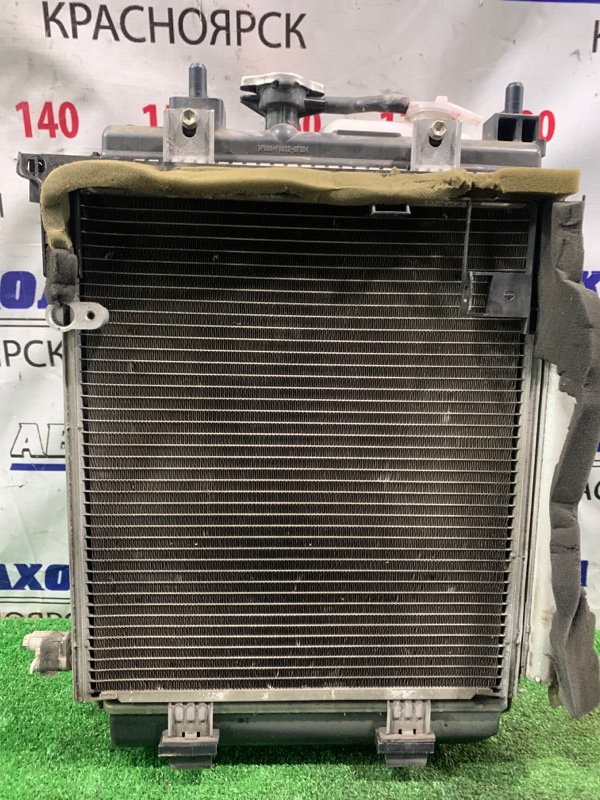 Радиатор двигателя Daihatsu Mira L275S KF-VE 2006 АКПП, в сборе с диффузором, вентилятором,