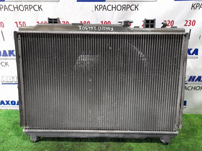 Радиатор двигателя Toyota Lite Ace KR42V 7K 1996 A/T в сборе с диффузором