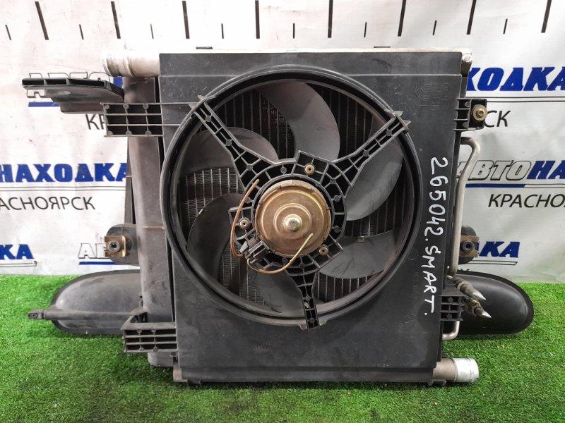 Радиатор двигателя Smart Fortwo 450.352 160.910 2003 в сборе с радиатором кондиционера, с
