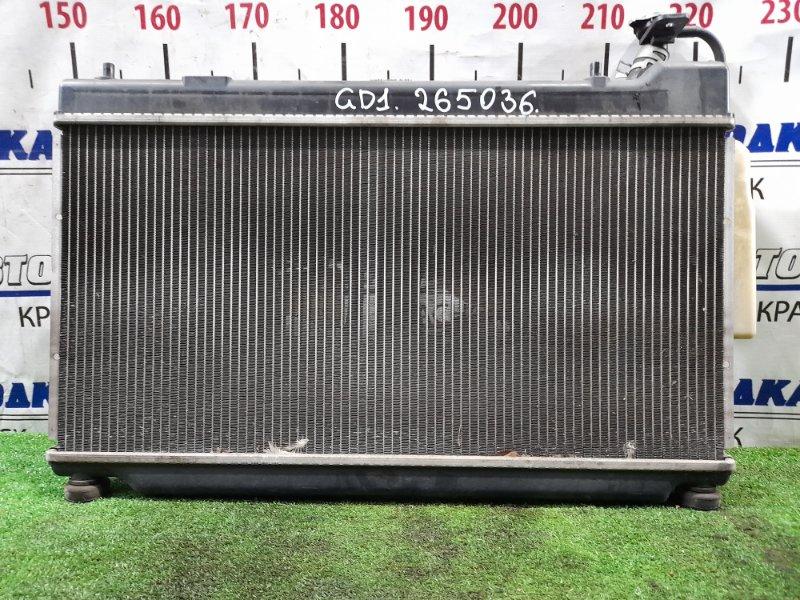 Радиатор двигателя Honda Fit GD1 L13A 2001 2 мод., A/T, в сборе с диффузорами и расширительным