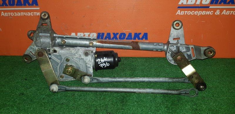 Мотор дворников Honda Accord CL9 K24A 2002 передний с трапецией*сломана клипса тяги