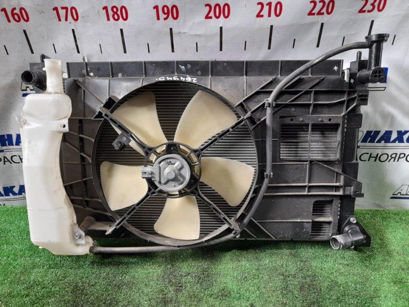 Радиатор двигателя Mitsubishi Colt Z21A 4A90 2002 С диффузором, вентилятором и расширительным