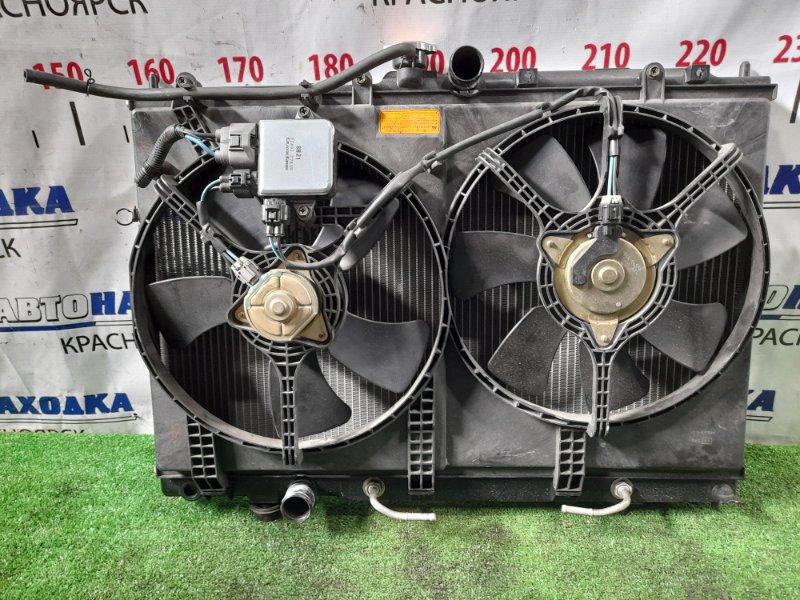 Радиатор двигателя Mitsubishi Airtrek CU4W 4G64 2001 А/Т с диффузором и вентиляторами + блок