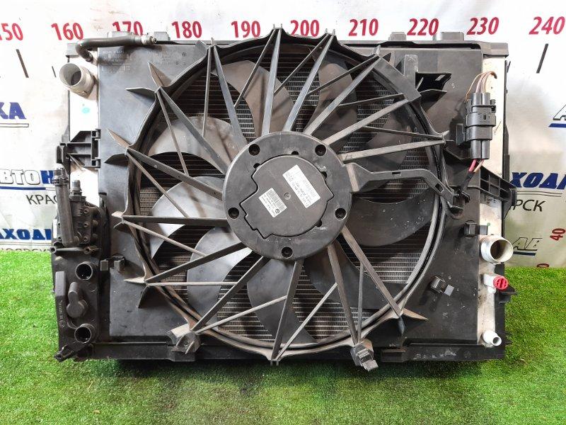 Радиатор двигателя Bmw 530I E60 N52B30 2003 с диффузором и вентилятором