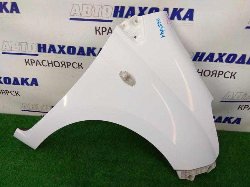 Крыло Suzuki Alto HA25V K6A 2009 переднее правое ХТС, правое, с повторителем, с клипсой, белое (26U).