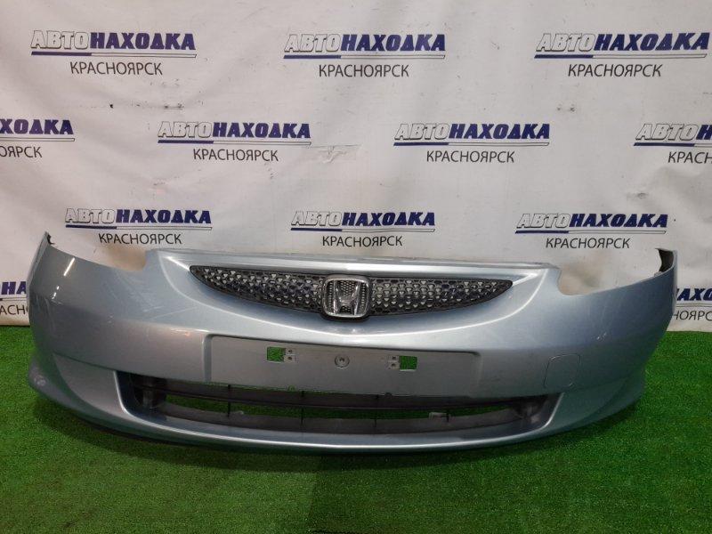 Бампер Honda Fit GD1 L13A 2001 передний Передний, 2 мод. цвет B528M, с решеткой. Есть мелкие