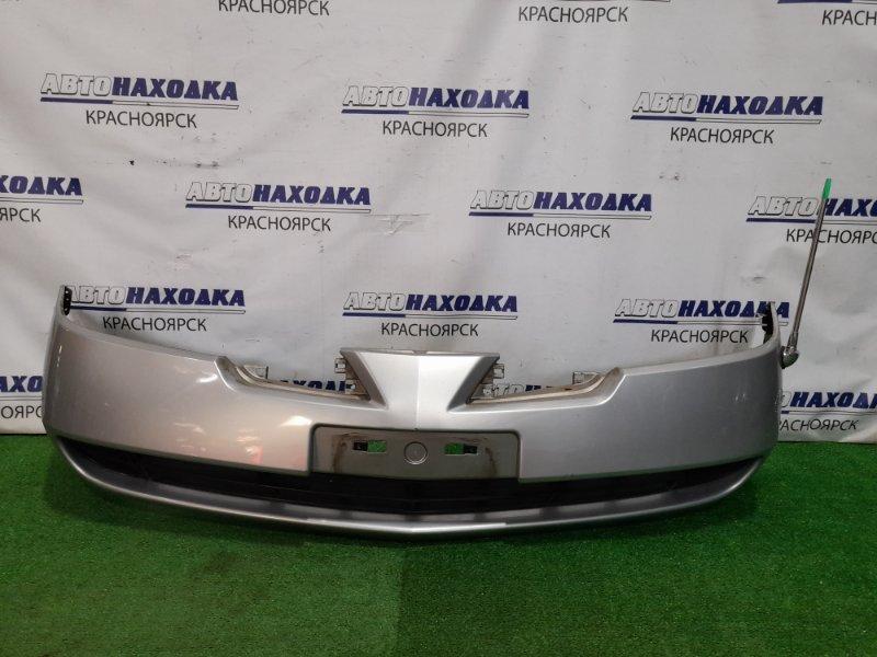 Бампер Nissan Primera QP12 QG18DE 2001 передний передний, 1 мод. с заглушками, антенной, цвет KY0. Есть