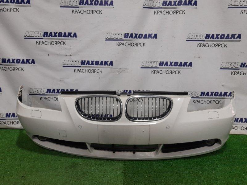 Бампер Bmw 530I E60 N52B30 2003 передний Передний, с решетками, с туманками, сонарами,