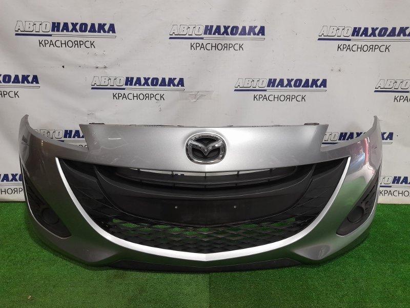 Бампер Mazda Premacy CWEFW LF-VDS 2010 передний Передний, с заглушками. Пошоркан в нижней части.