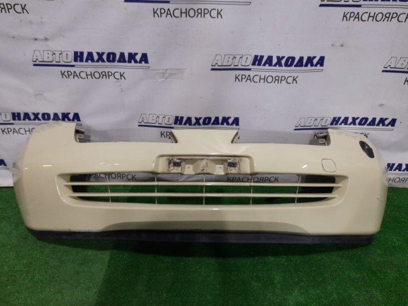 Бампер Nissan March AK12 CR12DE 2002 передний Передний, 1 мод. с габаритной антенной, цвет J11.