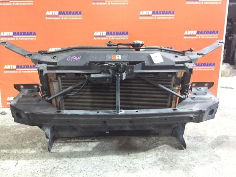 Рамка радиатора Mazda Atenza GY3W L3-VE 2002 передняя пластиковая+замок капота+усилитель