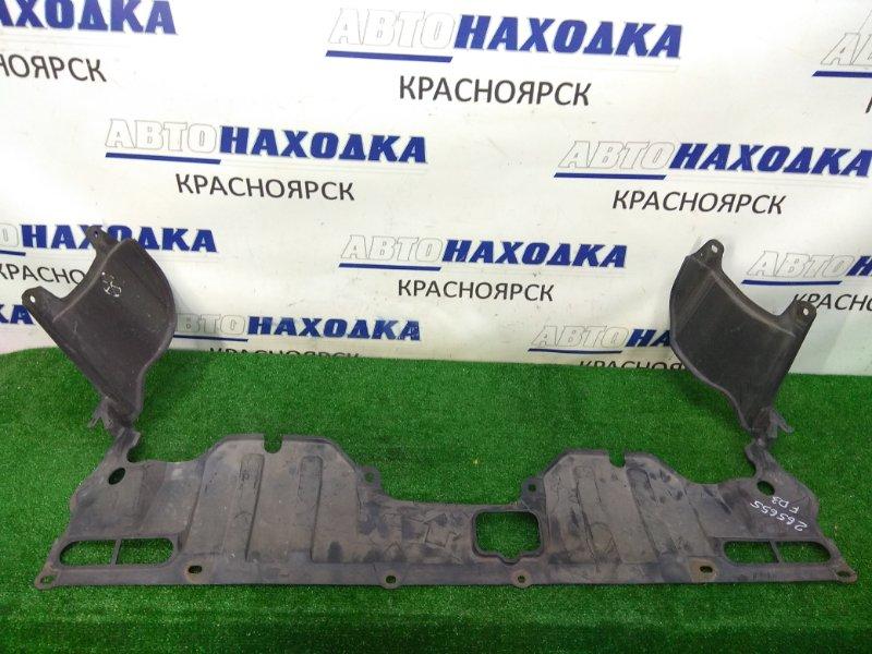 Защита двс Honda Civic FD3 LDA 2005 цельная, узкая