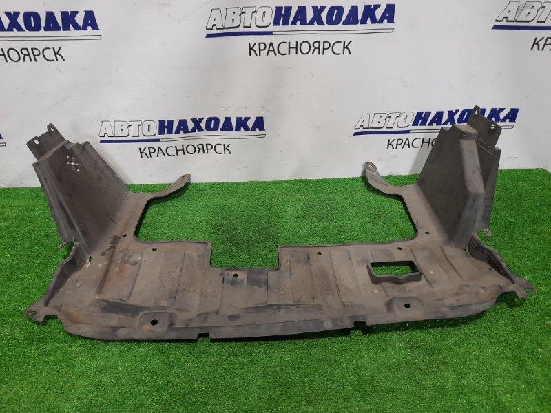 Защита двс Honda Fit GD1 L13A 2001 передняя сплошная, цельная