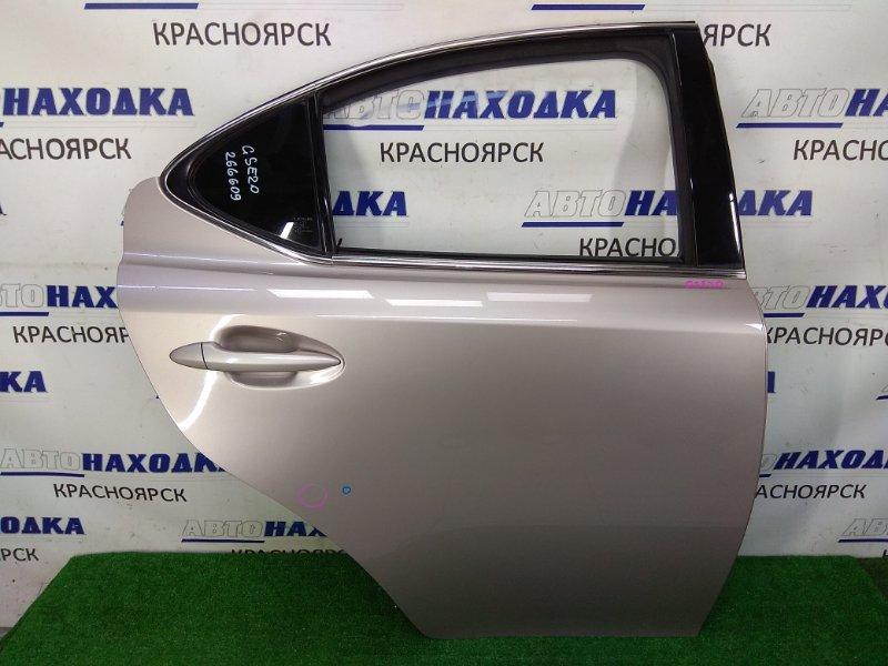 Дверь Lexus Is250 GSE20 4GR-FSE 2005 задняя правая задняя правая, в сборе, серая (3R4), вмятинка,