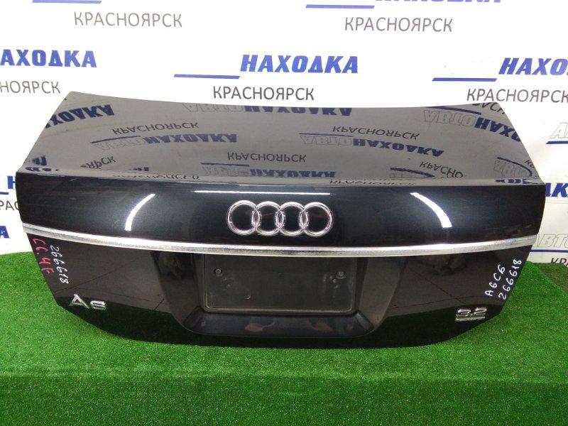 Крышка багажника Audi A6 C6 AUK 2004 задняя 1 модель (04-08г.), черная (4Z / Z9W), со знаком аварийной