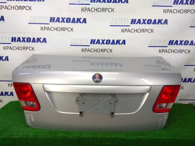 Крышка багажника Saab 9-3 YS3F B207E 2002 задняя в сборе, серая, с фонарями (1317), небольшая