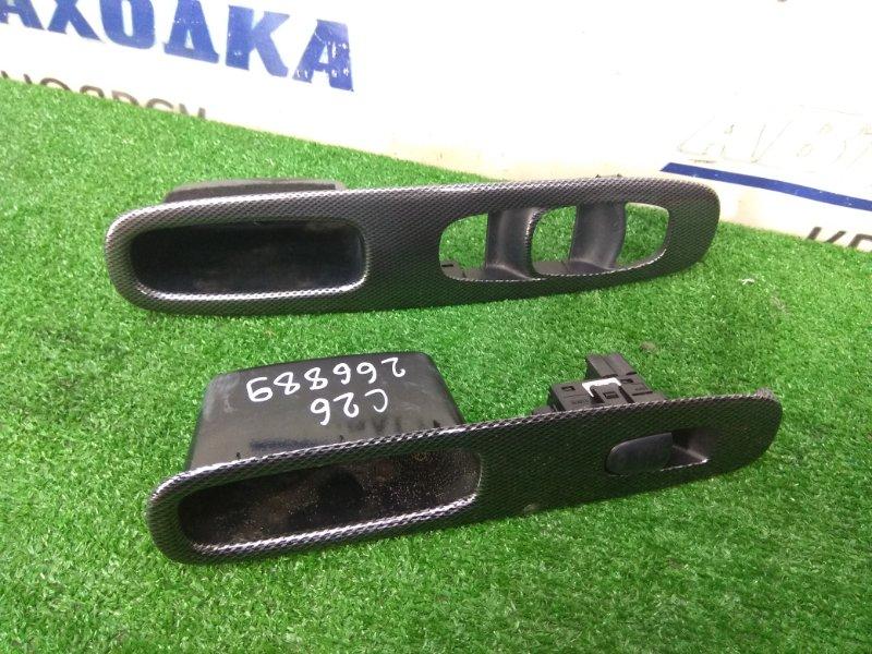 Накладка пластиковая в салон Nissan Serena C26 MR20DD 2010 передняя ХТС, пара, с передних дверей,