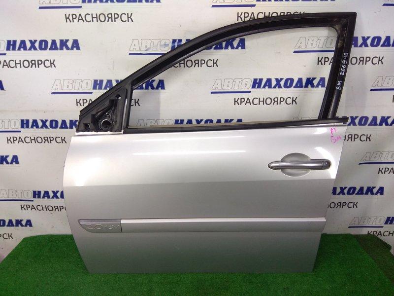 Дверь Renault Megane BM F4R 2002 передняя левая передняя левая, без стекла и подъемника, серая (TED99),