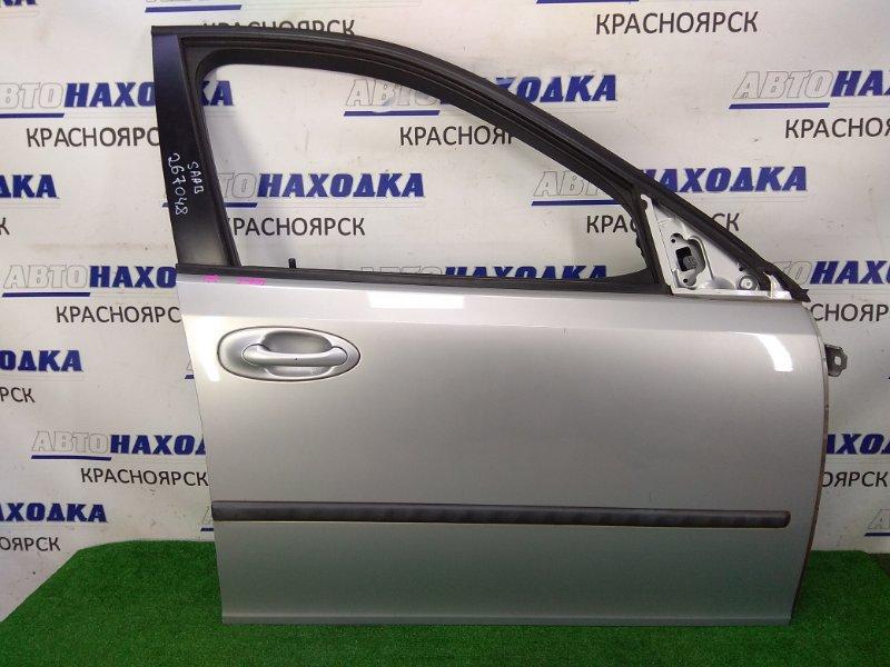 Дверь Saab 9-3 YS3F B207E 2002 передняя правая передняя правая, без стекла и подъемника, серая,