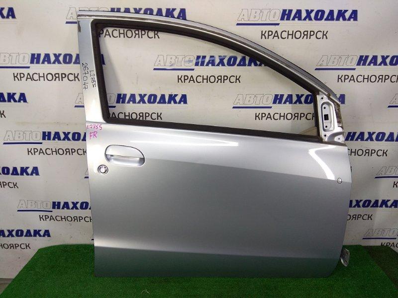 Дверь Daihatsu Mira L275S KF 2006 передняя правая передняя правая, 5-ти дверка, в сборе, серая (S28),