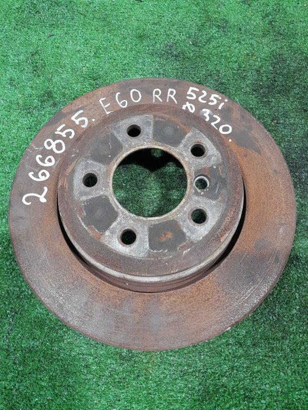 Диск тормозной Bmw 525I E60 M54B25 2003 задний задний, 320 мм, есть выработка.