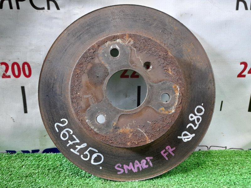 Диск тормозной Smart Fortwo 450.352 160.910 2003 передний 280мм, невентилируемый.