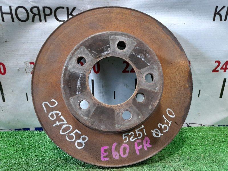 Диск тормозной Bmw 525I E60 M54B25 2003 передний передний, диаметр 310 мм.