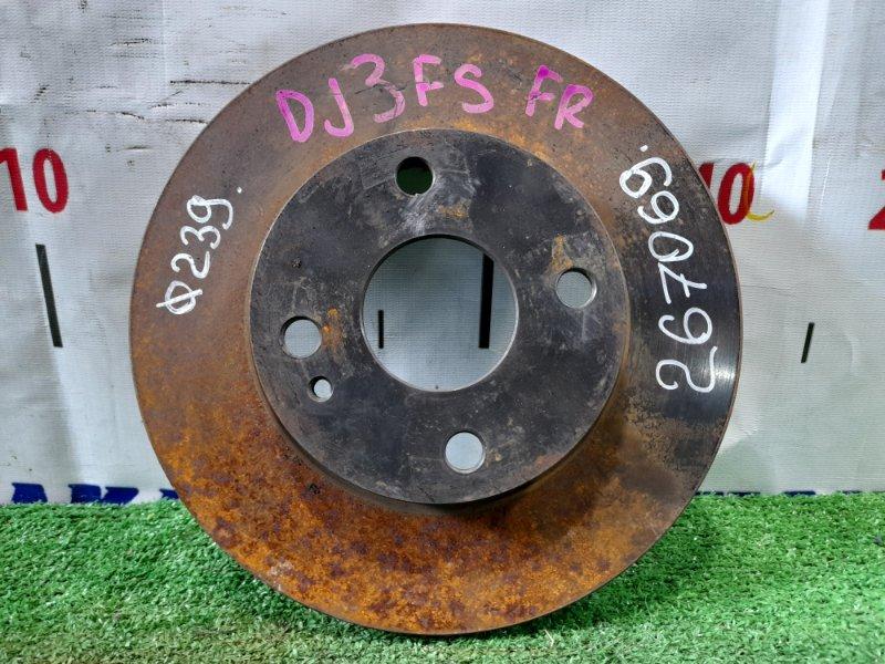 Диск тормозной Mazda Demio DJ3FS P3-VPS 2014 передний передний 239 мм