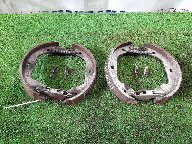 Колодки тормозные Bmw 530I E60 N52B30 2003 задние зад, на ручник, комплект + механизмы