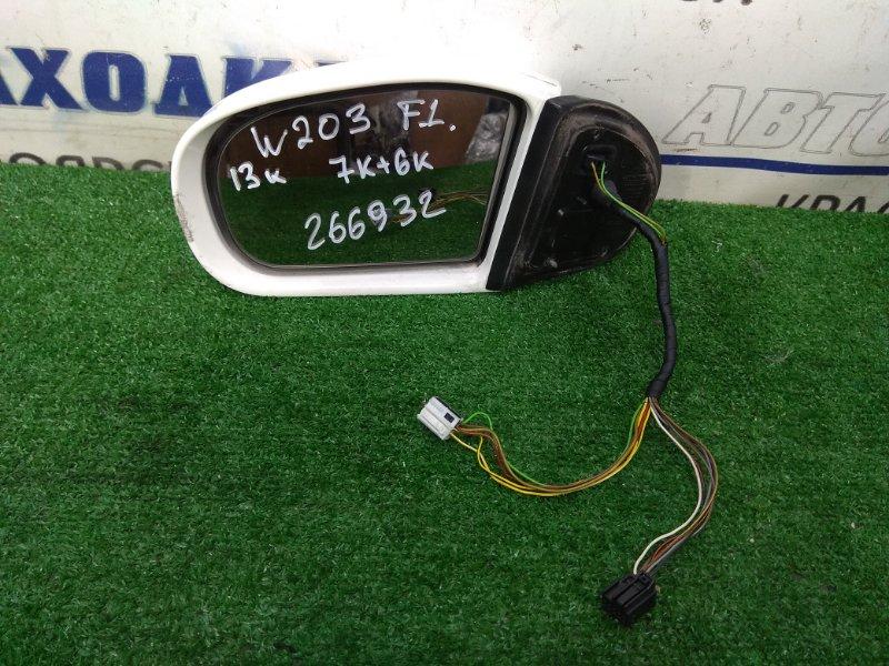 Зеркало Mercedes-Benz C200 203.042 M271E18 2000 переднее левое ХТС, левое, с повторителем, 7+6 контактов,