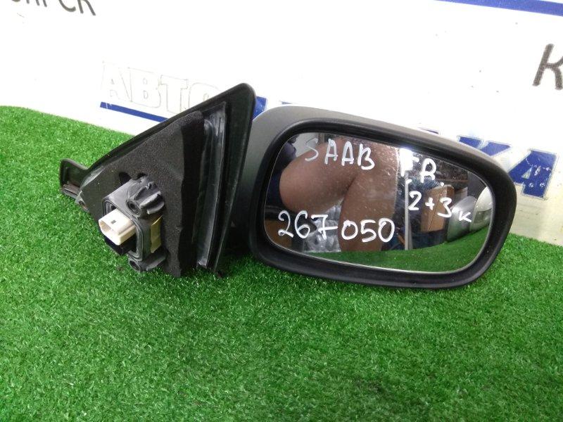 Зеркало Saab 9-3 YS3F B207E 2002 переднее правое ХТС, правое, 2+3 контакта, серое, правый руль