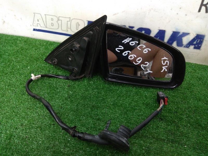 Зеркало Audi A6 C6 AUK 2004 правое ХТС, правое, с подсветкой, 15 контактов, черное (4Z / Z9W),