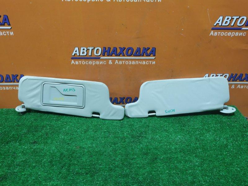 Козырек солнцезащитный Toyota Vitz NCP13 1NZ-FE 09.2003 ПАРА, 1 С ЗЕРКАЛОМ,