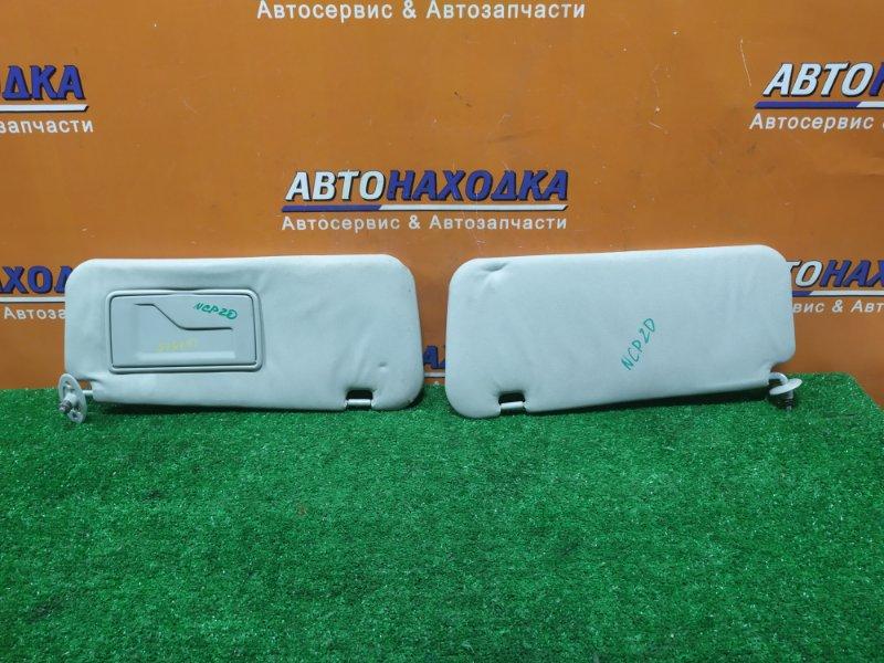 Козырек солнцезащитный Toyota Funcargo NCP20 2NZ-FE 01.2001 ПАРА,