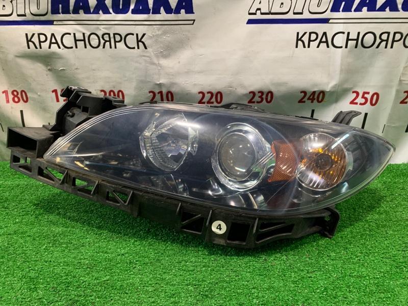 Фара Mazda Axela BK5P ZY-VE 2006 передняя левая P2690 Левая, седан, галогеновая, линза, с планкой и