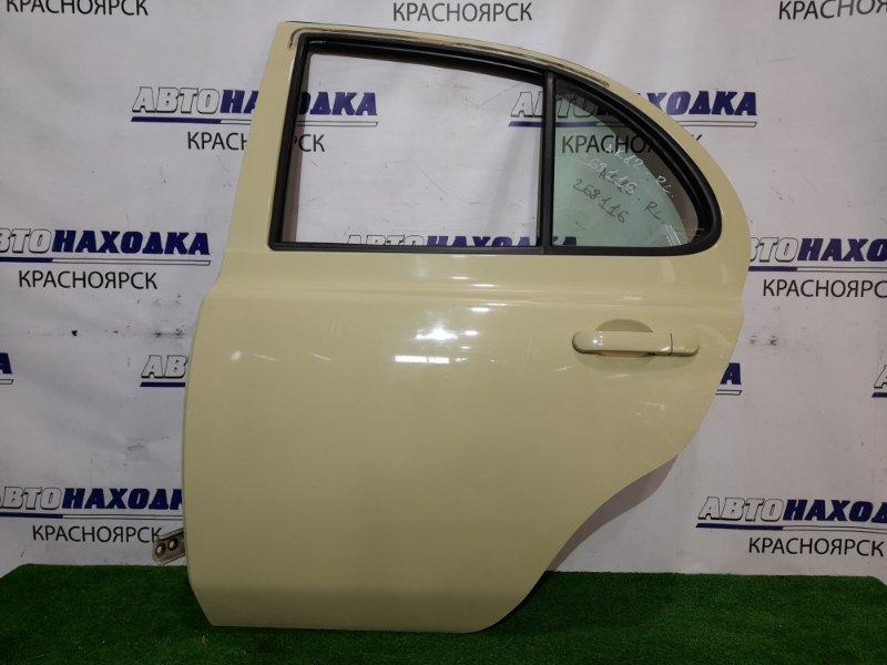 Дверь Nissan March AK12 CR12DE 2002 задняя левая RL в сборе, цвет J11, в ХТС