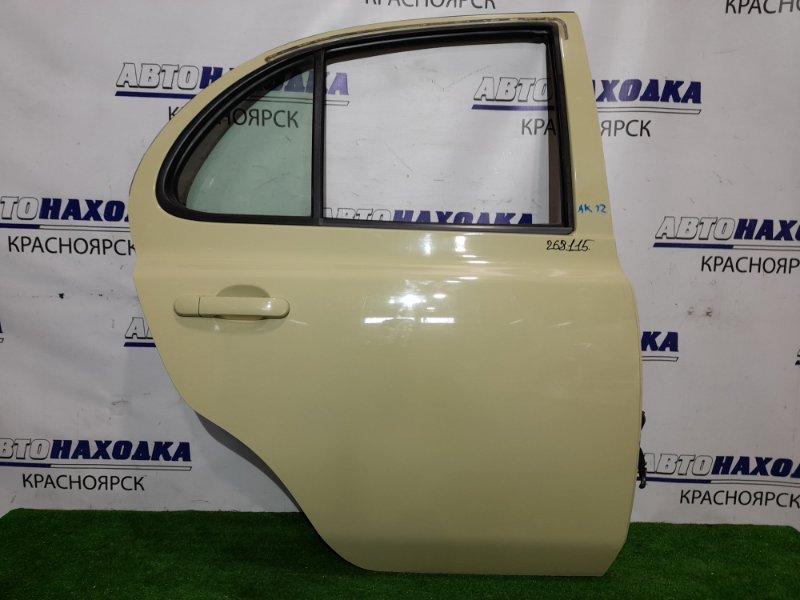 Дверь Nissan March AK12 CR12DE 2002 задняя правая RR в сборе, цвет J11, в ХТС