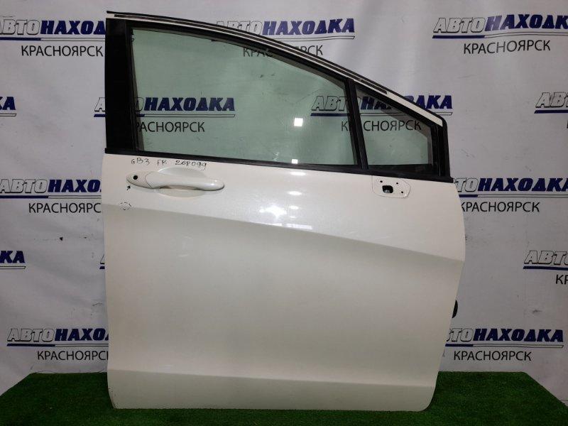 Дверь Honda Freed GB3 L15A 2008 передняя правая FR в сборе, цвет NH624P Есть тычка и немного подмят